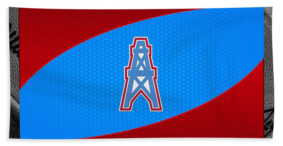 Oilers Beach Towel featuring the photograph Houston Oilers by Joe Hamilton