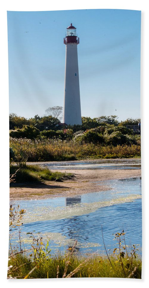 Lake Beach Towel featuring the photograph Lighthouse by Gaurav Singh