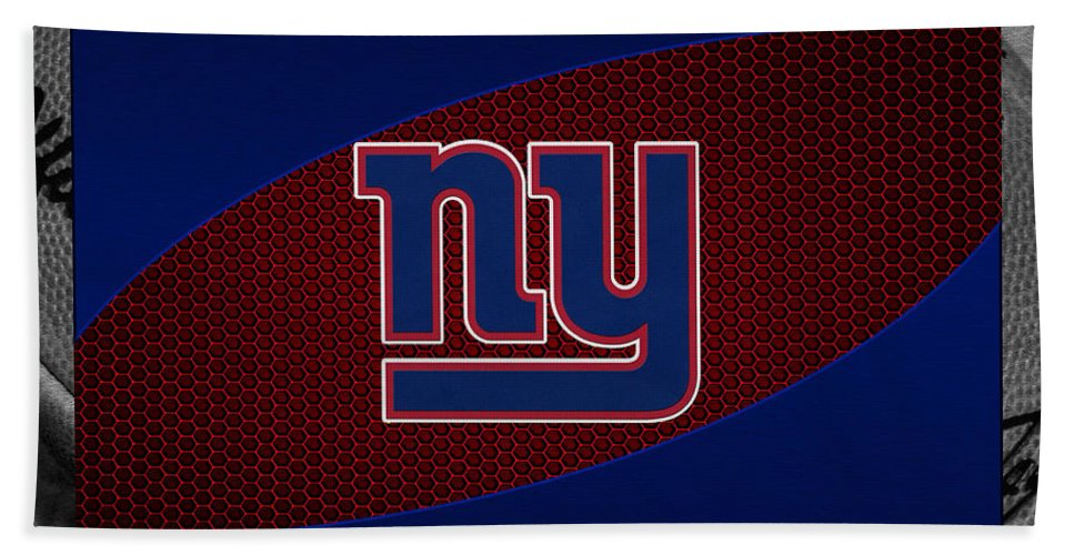 Giants Beach Towel featuring the photograph New York Giants by Joe Hamilton
