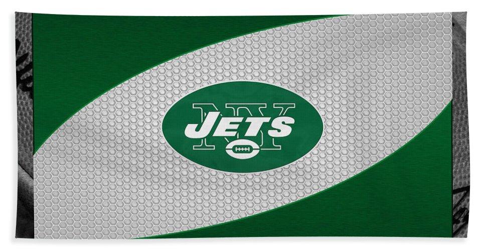 Jets Beach Towel featuring the photograph New York Jets by Joe Hamilton