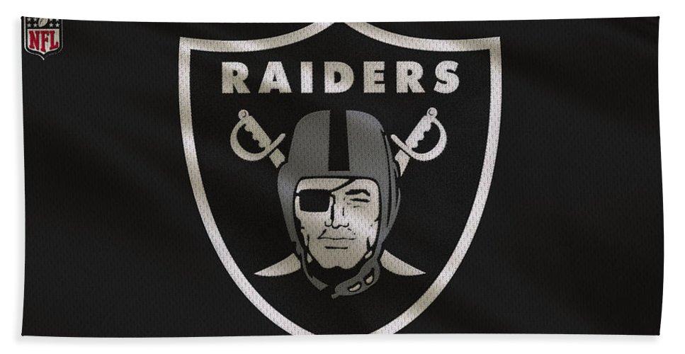 Raiders Beach Towel featuring the photograph Oakland Raiders Uniform 3 by Joe Hamilton