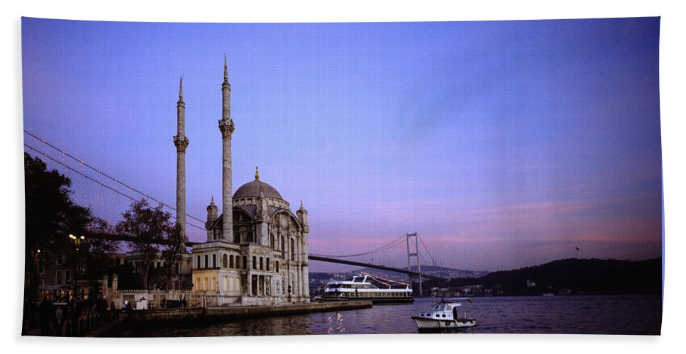 Istanbul Beach Towel featuring the photograph Ortakoy Mosque by Shaun Higson