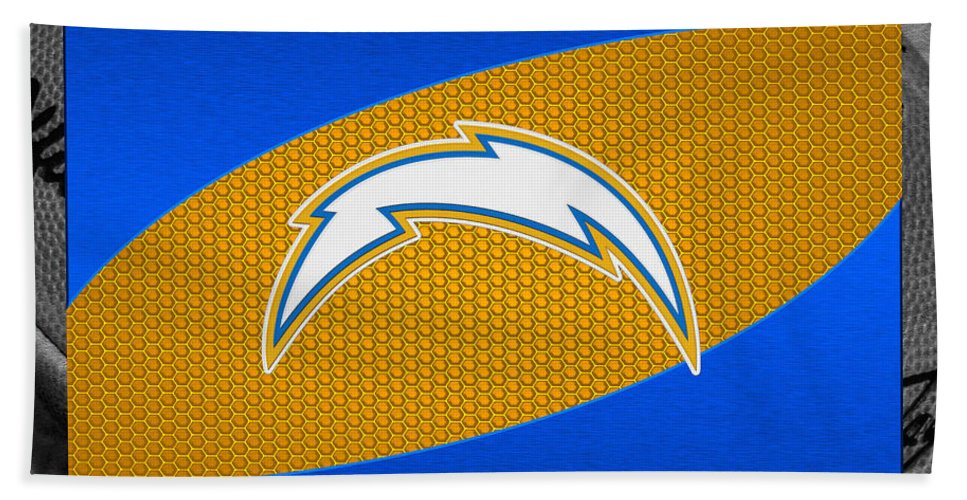 Chargers Beach Towel featuring the photograph San Diego Chargers by Joe Hamilton