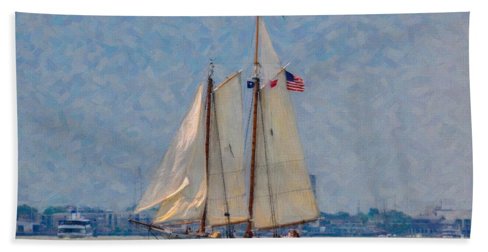 Spirit Of Sc Beach Towel featuring the mixed media Spirit Of Sc by Dale Powell