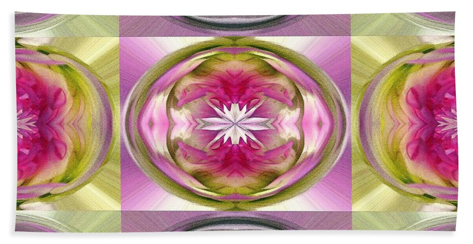 Dahlia Beach Towel featuring the painting Star Elite Abstract by J McCombie