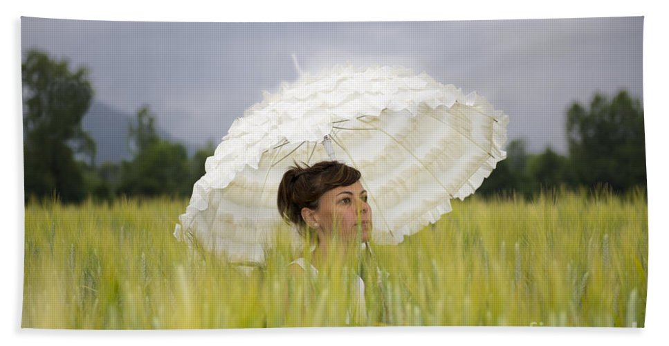 Woman Beach Towel featuring the photograph Umbrella by Mats Silvan