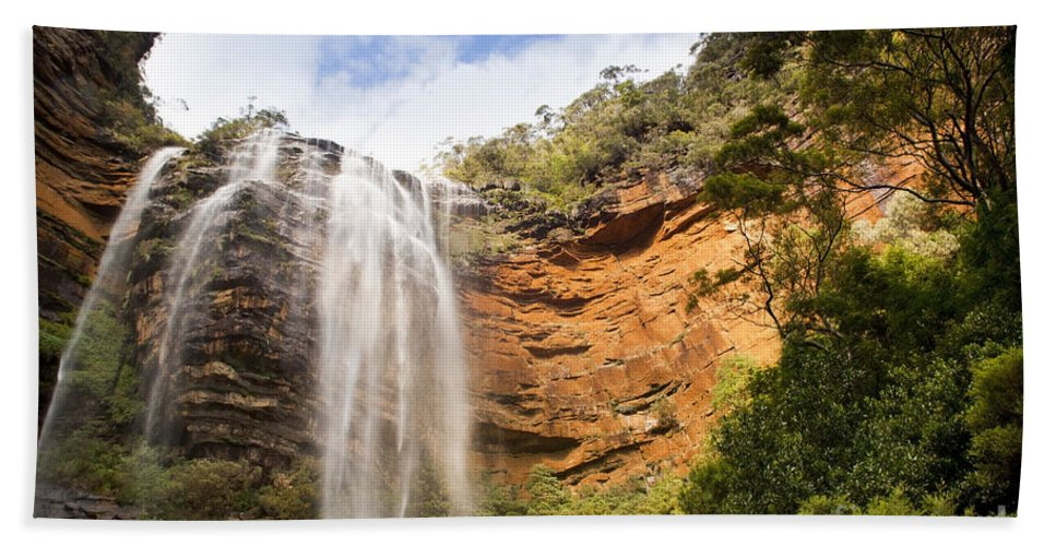 Australia Beach Towel featuring the photograph Wentworth Falls Blue Mountains by Tim Hester