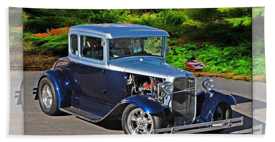 32 Ford Beach Towel featuring the photograph 32 Ford by Walter Herrit