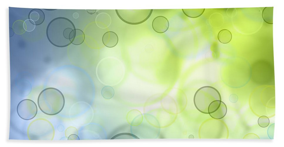 Abstract Beach Towel featuring the photograph Circles Of Hope by Les Cunliffe