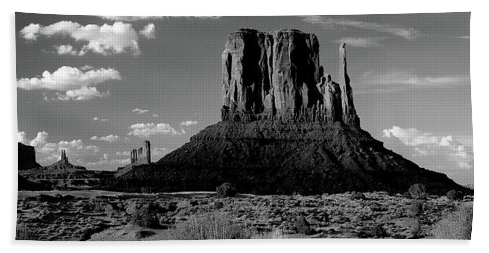 Photography Beach Towel featuring the photograph Rock Formations On A Landscape by Panoramic Images