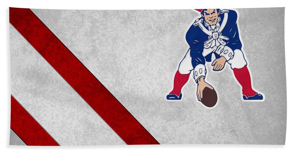 Patriots Beach Towel featuring the photograph New England Patriots by Joe Hamilton