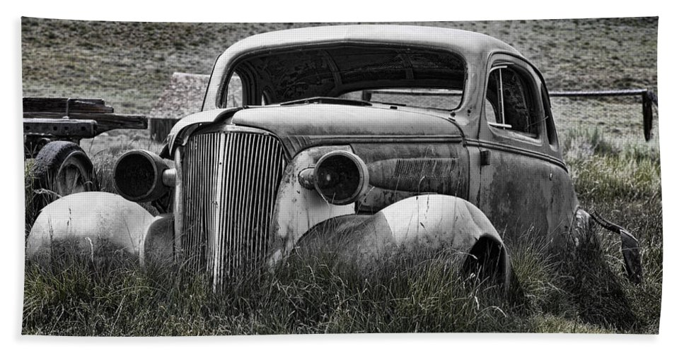 1937 Chevrolet Beach Towel featuring the photograph 37 Chev by Kelley King