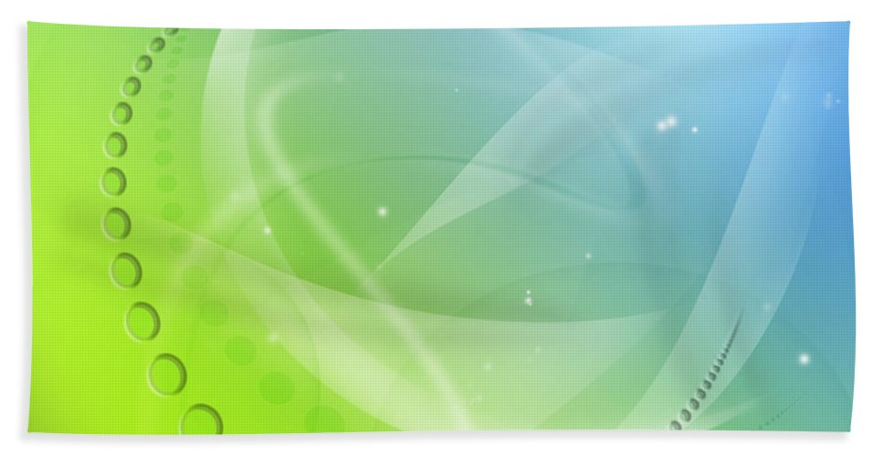 Science Beach Towel featuring the photograph Abstract Background by Les Cunliffe