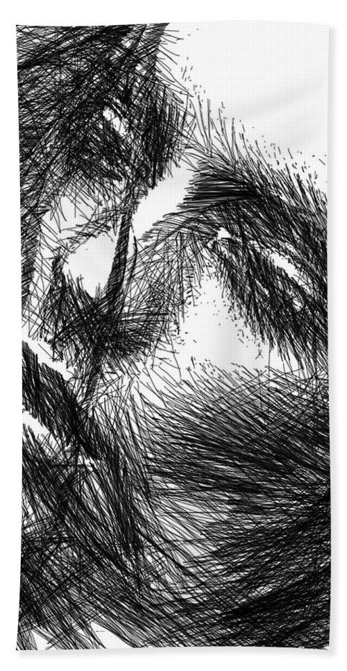 Art Beach Towel featuring the digital art Facial Expressions by Rafael Salazar