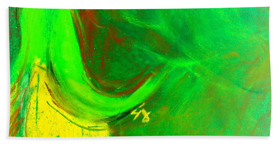 Fuchsia Beach Towel featuring the painting Fuchsia Flower by Sue Jacobi
