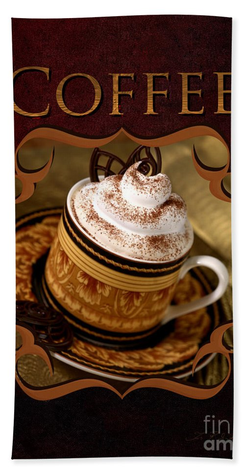Bowl Beach Towel featuring the photograph Cappuchino With Choclates by Iris Richardson