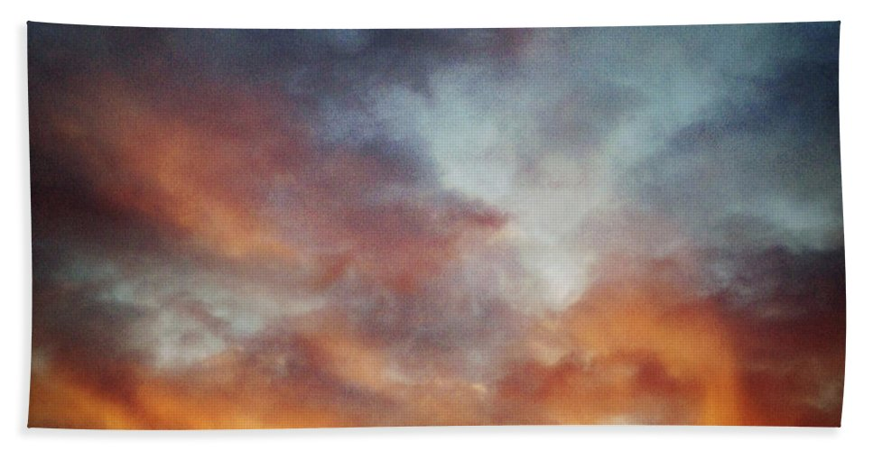 Abstract Beach Towel featuring the photograph Sunset Sky by Les Cunliffe