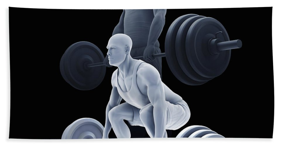 Biomedical Illustration Beach Towel featuring the photograph Exercise Workout by Science Picture Co