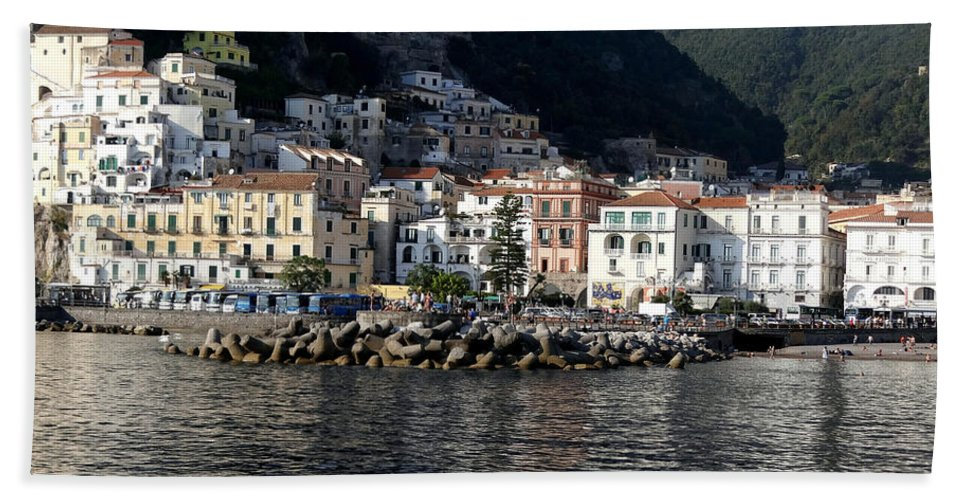 Amalfi Coast Beach Towel featuring the photograph Views From The Amalfi Coast In Italy by Richard Rosenshein