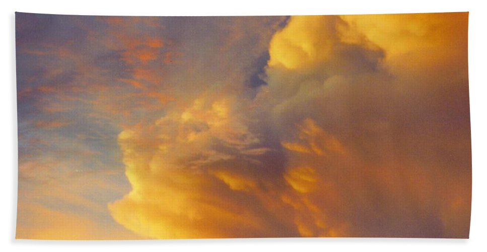 Gold And Red Clouds Beach Towel featuring the photograph Sky Scape by Robert Floyd