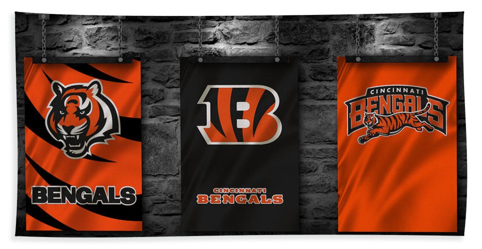 Bengals Beach Towel featuring the photograph Cincinnati Bengals by Joe Hamilton