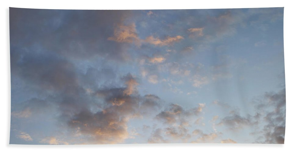 Fluffy Beach Towel featuring the photograph Fluffy Clouds by Les Cunliffe
