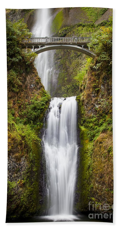 America Beach Towel featuring the photograph Multnomah Falls by Brian Jannsen