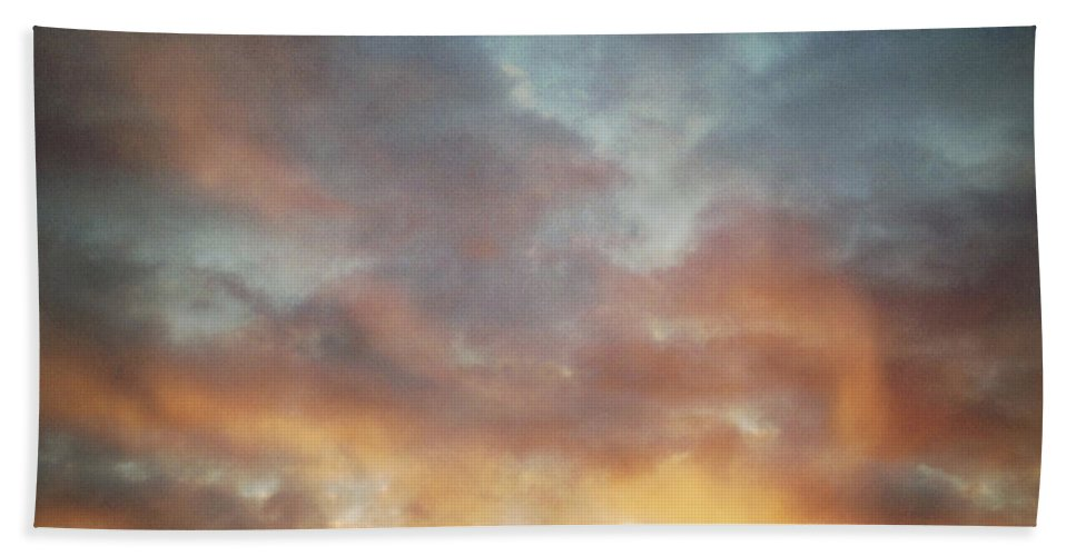 Warm Beach Towel featuring the photograph Sunset Sky by Les Cunliffe