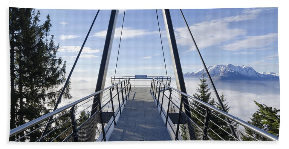 Mountains Beach Towel featuring the photograph Walkway by Mats Silvan