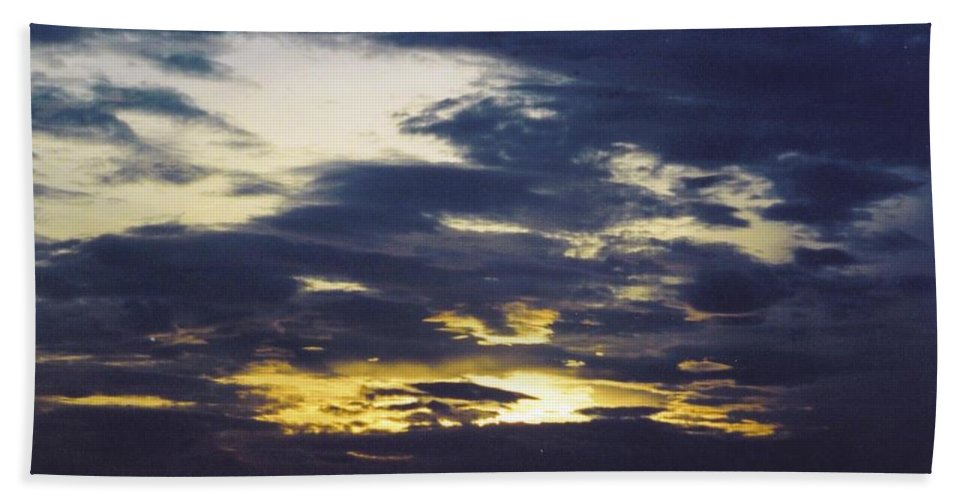 Stormy Sky At Sunset Beach Towel featuring the photograph Sky Scape by Robert Floyd