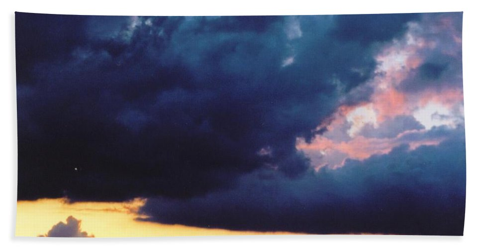 Stormy Sky With Pretty Colors Beach Towel featuring the photograph Sky Scape by Robert Floyd