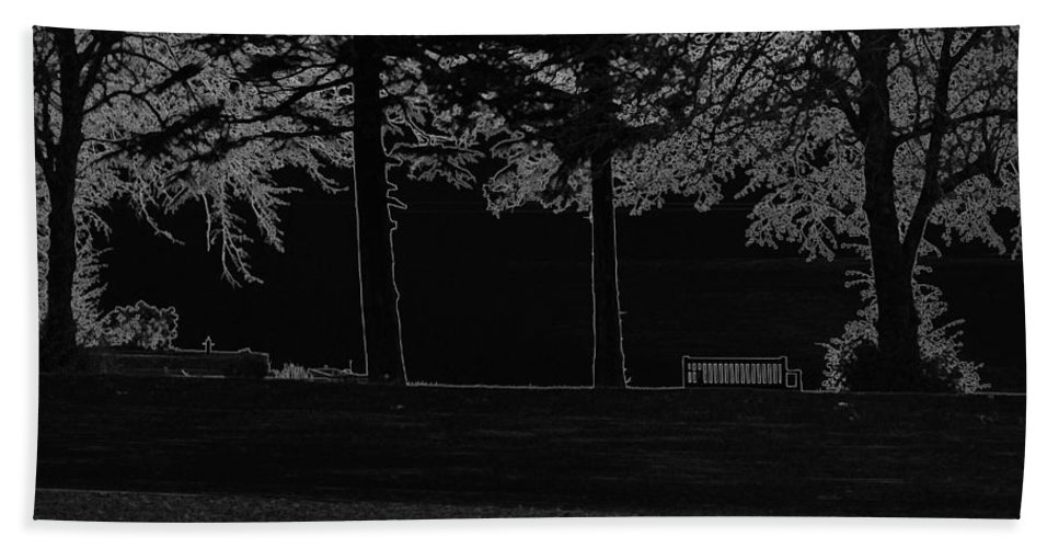 Bench Beach Towel featuring the digital art A Bench And Path On The Shore Of Loch Ness In Scotland by Ashish Agarwal