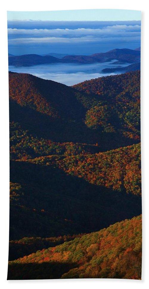 Blue Ridge Beach Towel featuring the photograph Blue Ridge Mountains by Mountains to the Sea Photo