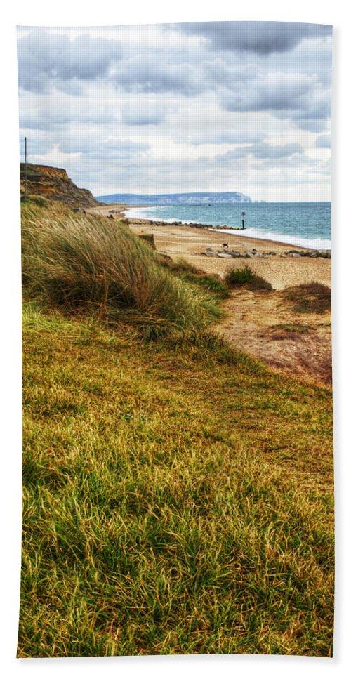 Hengistbury Head Beach Towel featuring the photograph Hengistbury Head by Chris Day