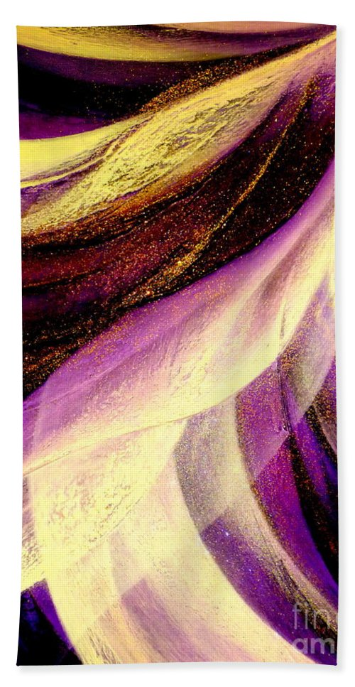 Light.dance.sky.crystal.wind.spiritual.colorful.energy.impression Beach Towel featuring the painting Light Dance by Kumiko Mayer