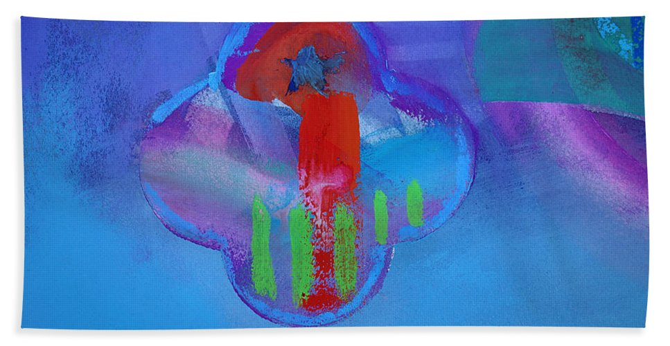 Texas Art Beach Towel featuring the painting One by Charles Stuart