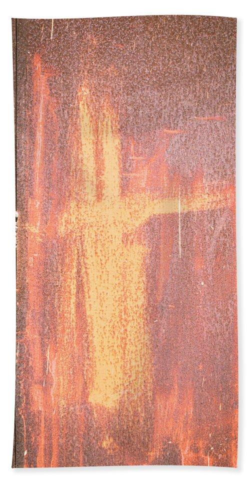 Abstract Beach Towel featuring the photograph Rusty Metal by Tom Gowanlock