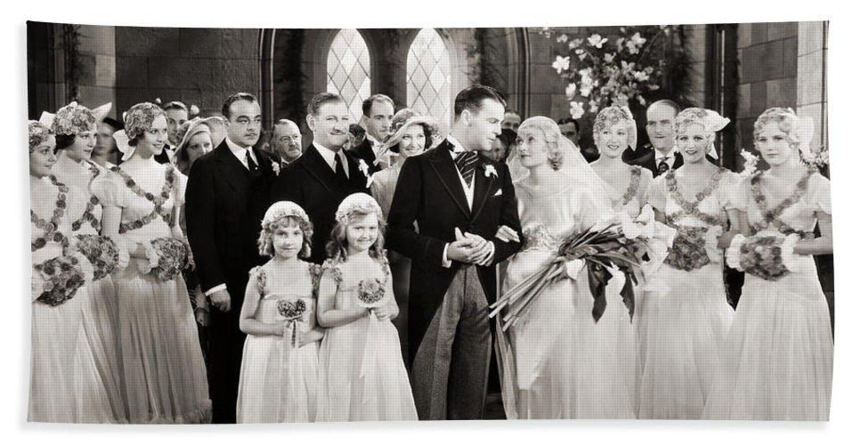 1920s Beach Towel featuring the photograph Silent Film Still: Wedding by Granger
