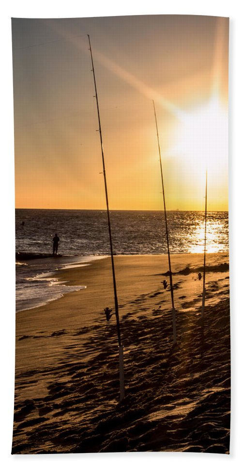 Clouds Beach Towel featuring the photograph Sunset On The Beach by Gaurav Singh
