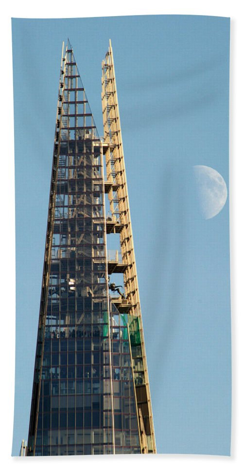 Shard Beach Towel featuring the photograph The Shard by Chris Day