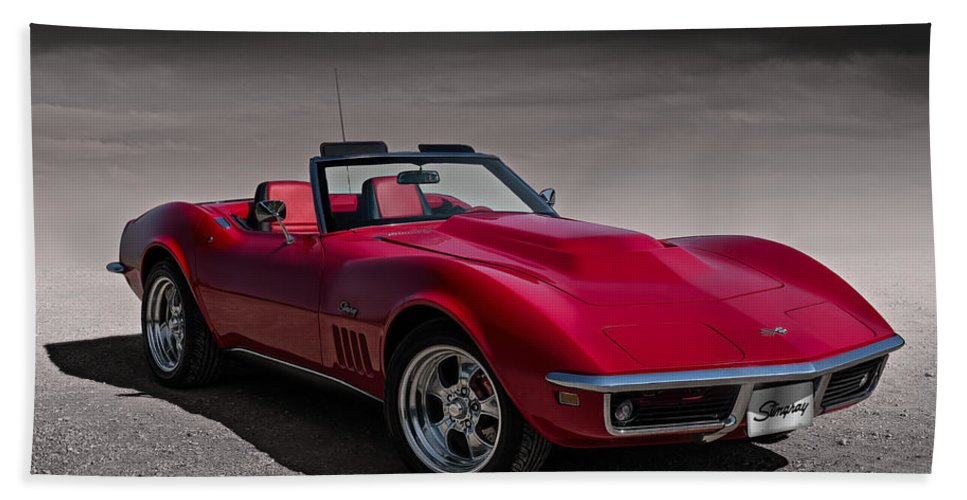 Red Beach Towel featuring the digital art 69 Red Stingray by Douglas Pittman