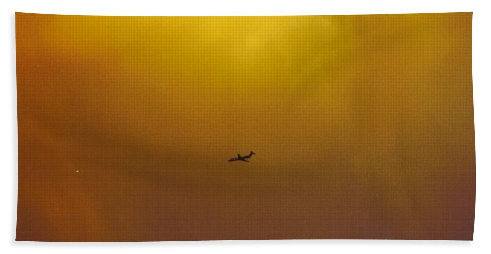 Flying The Stormy Sky Beach Towel featuring the photograph Sky Scape by Robert Floyd