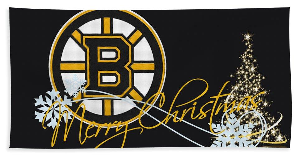 Bruins Beach Sheet featuring the photograph Boston Bruins by Joe Hamilton