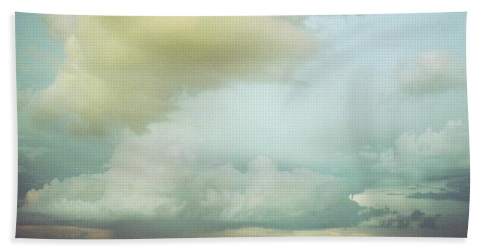 Rain Clouds Over Bridge Crossing Caloosahatchee River In Ft.myers Beach Towel featuring the photograph Sky Scape by Robert Floyd
