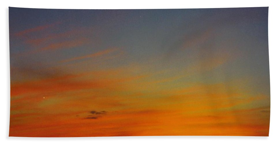 Red Blue And Gold Sunset Beach Towel featuring the photograph Sky Scape by Robert Floyd