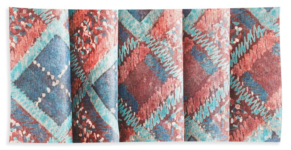 Africa Beach Towel featuring the photograph Colorful Cloth by Tom Gowanlock