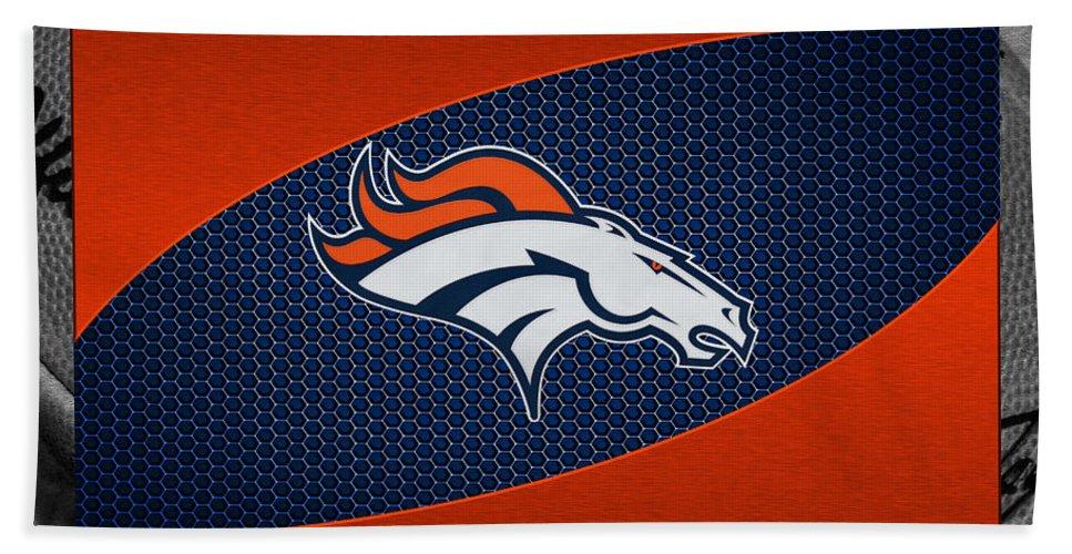 Broncos Beach Towel featuring the photograph Denver Broncos by Joe Hamilton