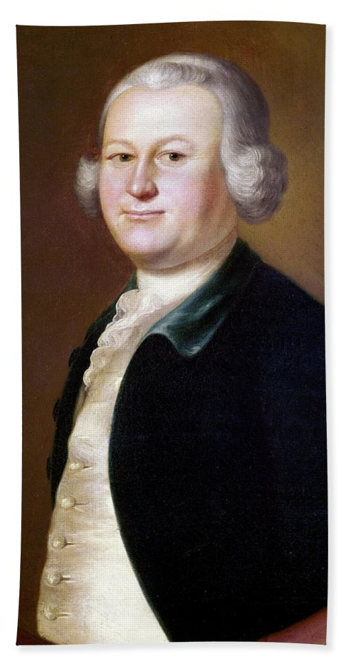 1755 Beach Towel featuring the painting James Otis (1725-1783) by Granger