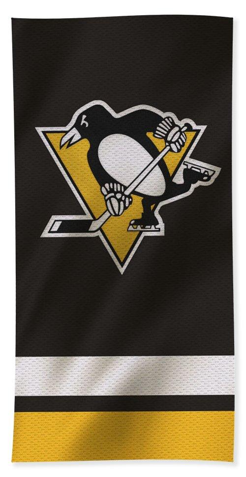 Penguins Beach Towel featuring the photograph Pittsburgh Penguins by Joe Hamilton