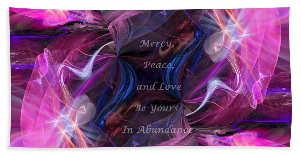 Jude 1:2 Beach Towel featuring the digital art A Blessing by Margie Chapman